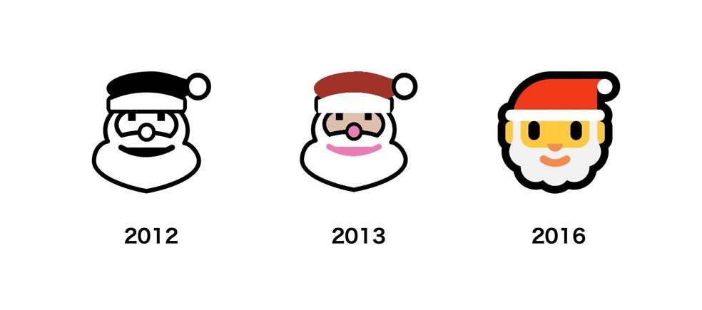 Microsoft Santa Claus emoji has thick outlines Photo: Reproduo / Emojipedia