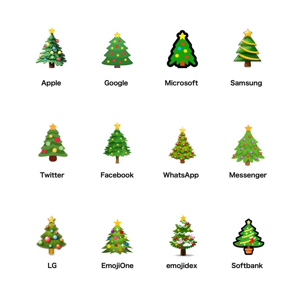 All Christmas tree emojis show beautiful decorations Photo: Reproduction / Emojipedia