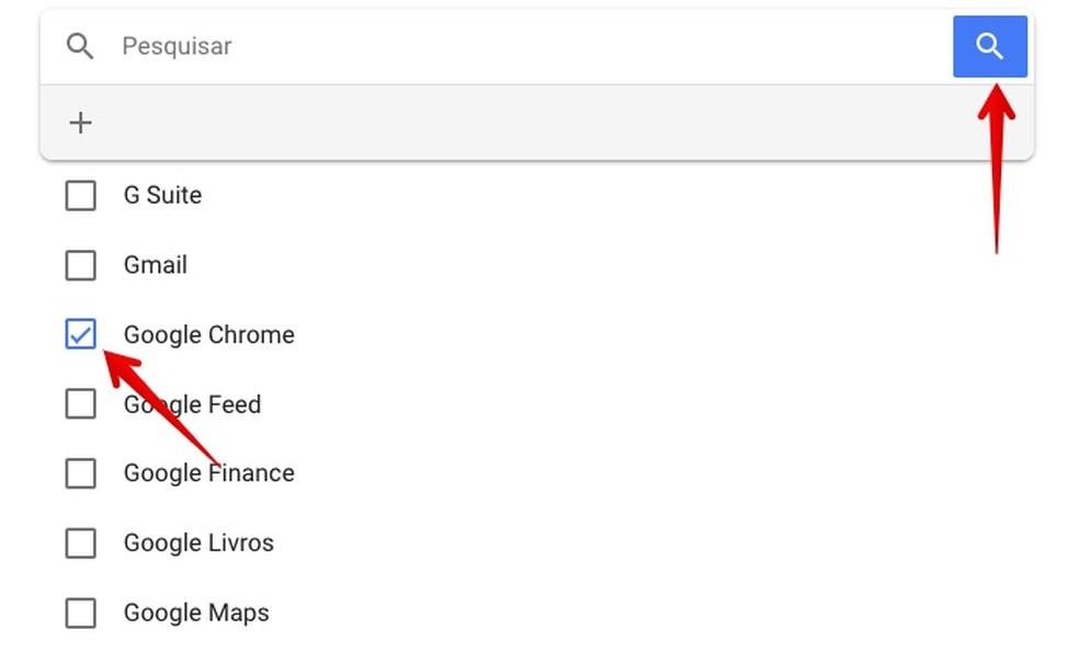 Viewing Chrome activity log Photo: Reproduo / Helito Beggiora