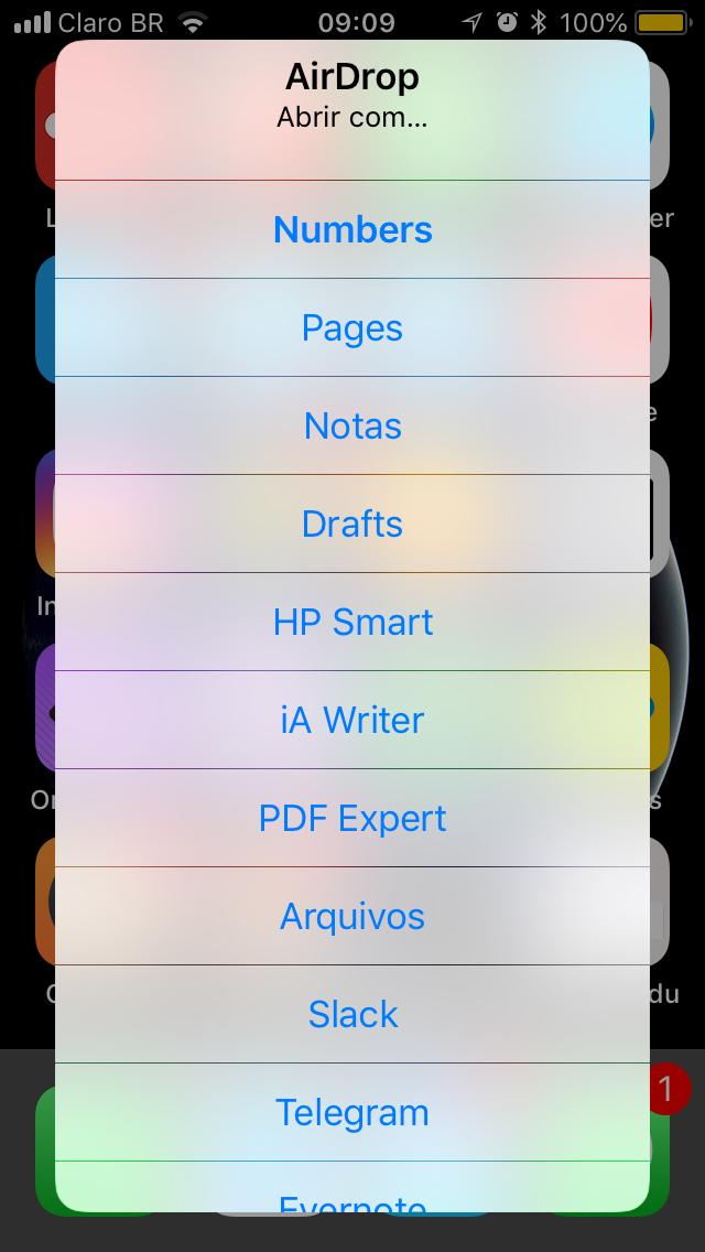 AirDrop iOS