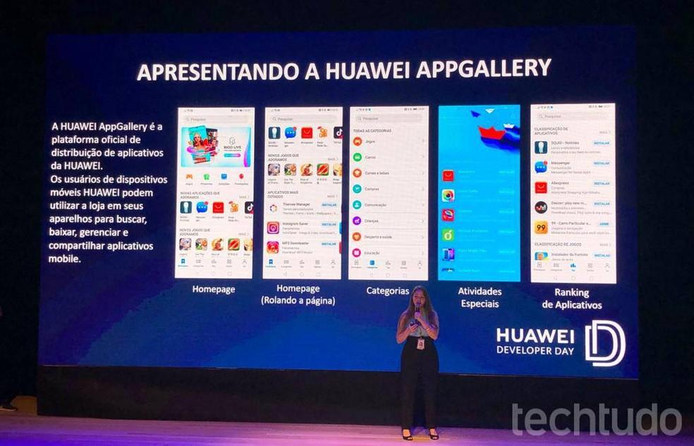 Huawei shows the brand's internal app platform, AppGalery Photo: Pedro Vital / TechTudo
