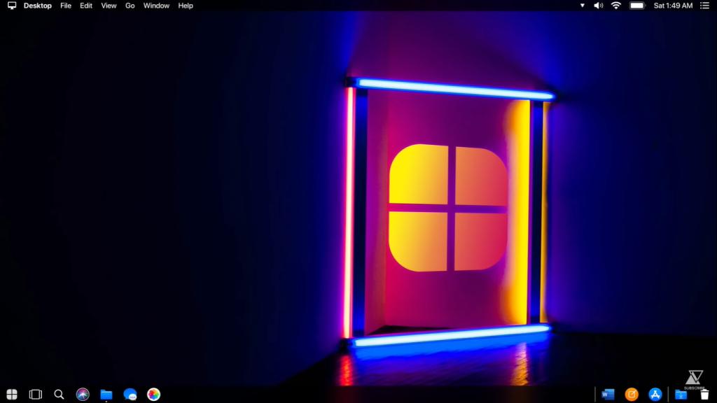 Windows 10 Apple's Edition desktop