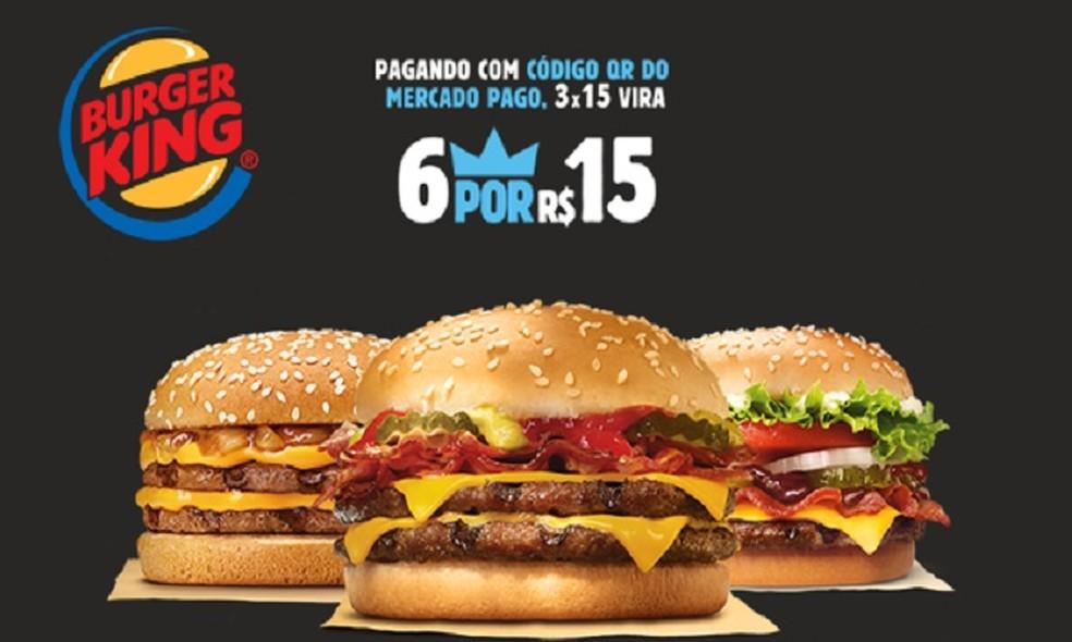 Burger King's Black Friday promotion offers 6 hamburgers for R $ 15 Photo: Divulgao / Burger King