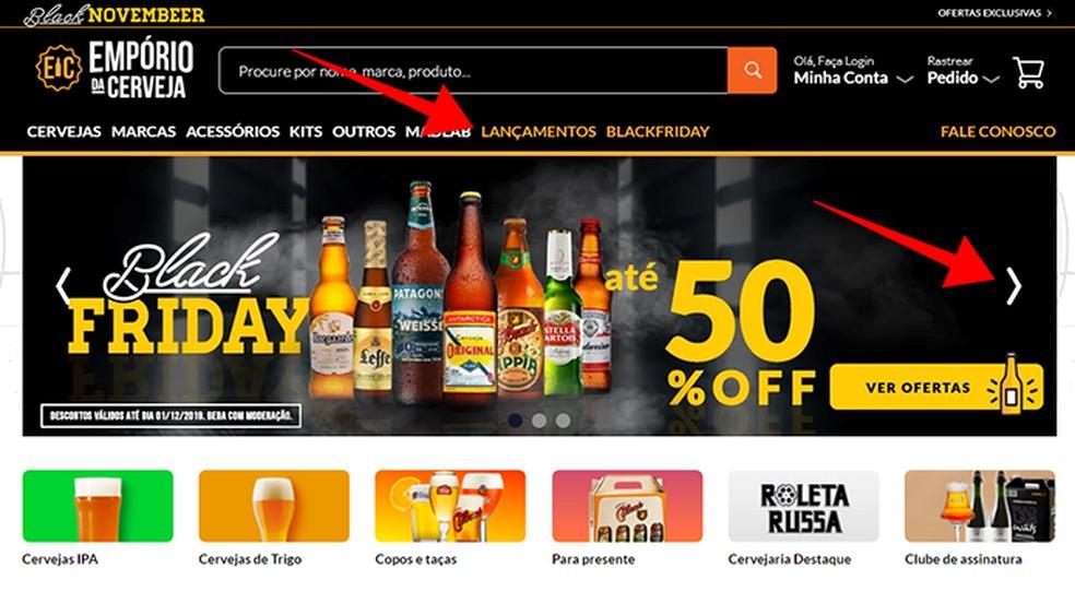 Access the promotional lists of Emporio da Cerveja on Black Friday Photo: Reproduo / Paulo Alves