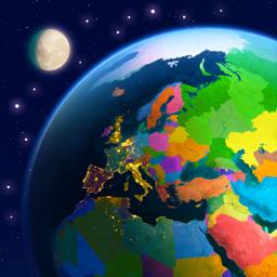 Earth 3D app icon - World Atlas
