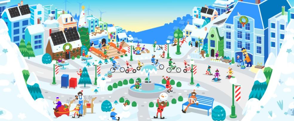 Google creates Vila do Plo Norte, a portal with attractions for children at Christmas 2019 Photo: Divulgao / Google