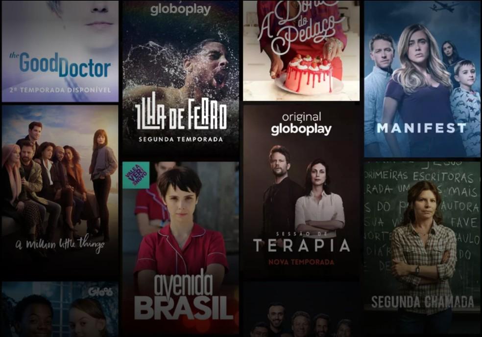 Globoplay has a catalog with TV Globo programs and international series Photo: Reproduo / Globoplay