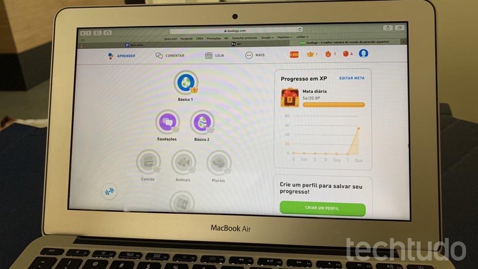 Learn how to learn Spanish at Duolingo Photo: Helito Beggiora / TechTudo
