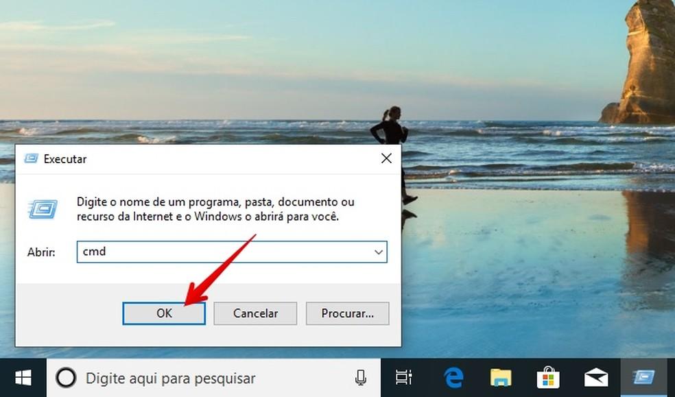 Open the Windows Command Prompt Photo: Reproduo / Helito Beggiora