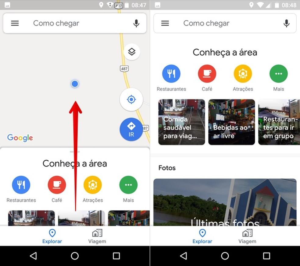 Explore the map area through Google Maps Photo: Reproduo / Helito Beggiora