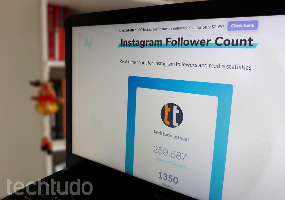 Followers counter Photo: Ana Letcia Loubak / TechTudo
