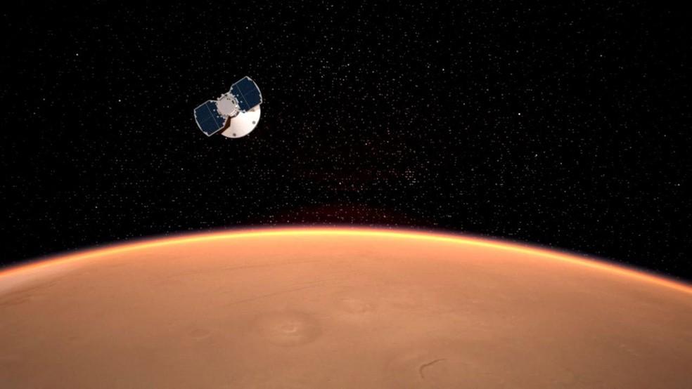 NASA transmits landing of the Insight probe on Mars through several online channels Photo: Divulgao / NASA