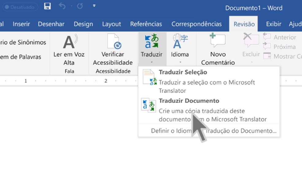 Office 2019 has an integrated translator Photo: Divulgao / Microsoft