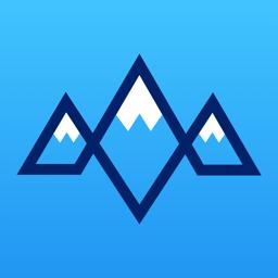 Snoww app icon: ski tracker