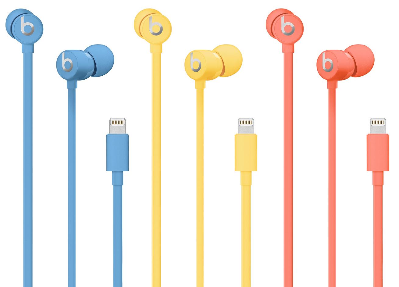 New colors of urBeats 3 headphones matching iPhone XR