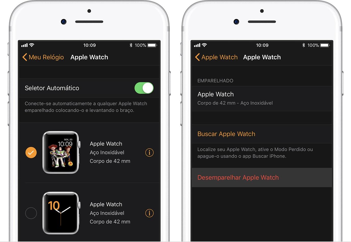 Unpairing the Apple Watch