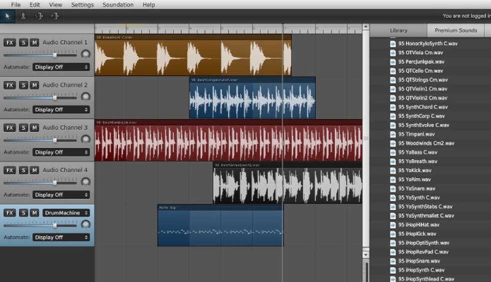 More complex Soundation platform interface Photo: Reproduo / Carolina Lais