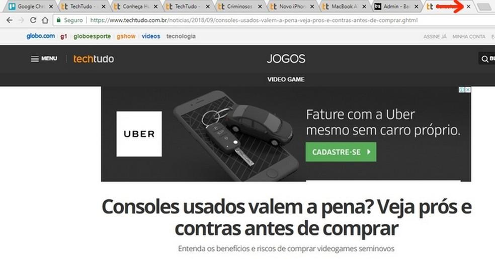 Closing Chrome tabs reduces RAM consumption and corrects crashes Photo: Reproduo / Raquel Freire