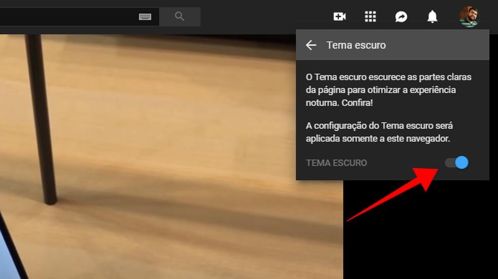 Activate dark mode manually on YouTube Photo: Reproduo / Paulo Alves