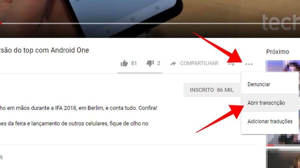 Open the transcript of a YouTube video Photo: Reproduo / Paulo Alves