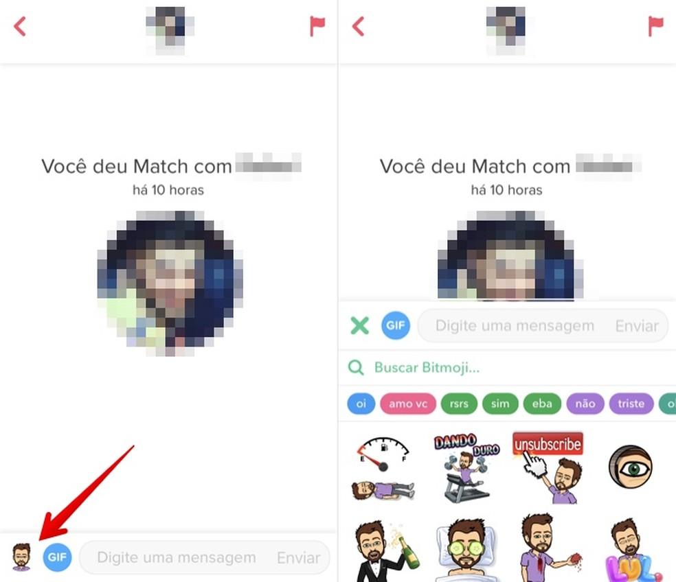 Send Bitmoji stickers on Tinder Photo: Reproduo / Helito Bijora