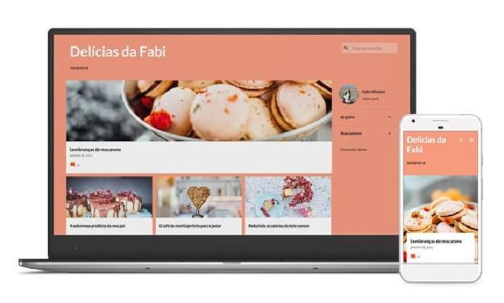 Responsive design websites adapt to different screen sizes Photo: Divulgao / Blogger