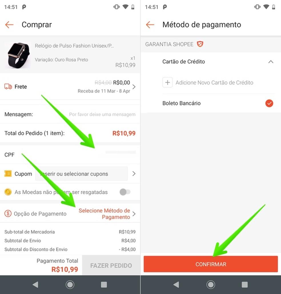 Adding payment method Photo: Reproduo / Helito Beggiora