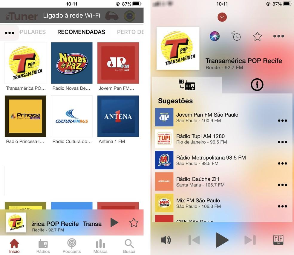 MyTuner Radio Brasil allows you to listen to free online radio Photo: Reproduo / Rodrigo Fernandes