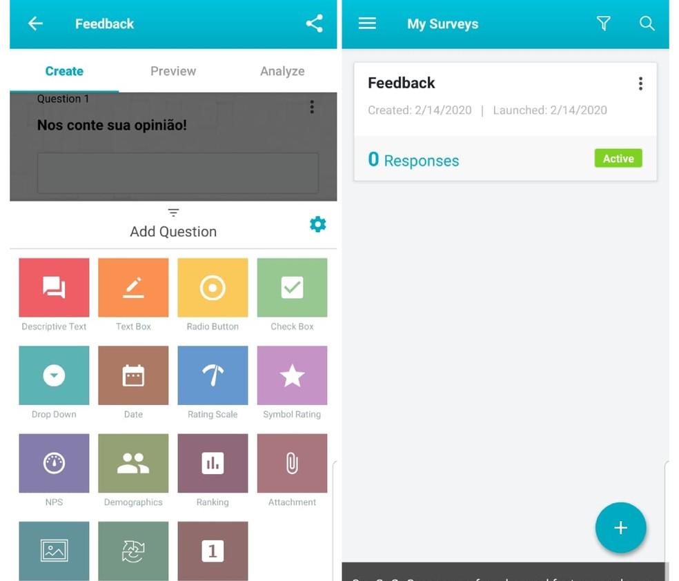 SoGoSurvey allows you to create a WhatsApp poll Photo: Reproduo / Emanuel Reis