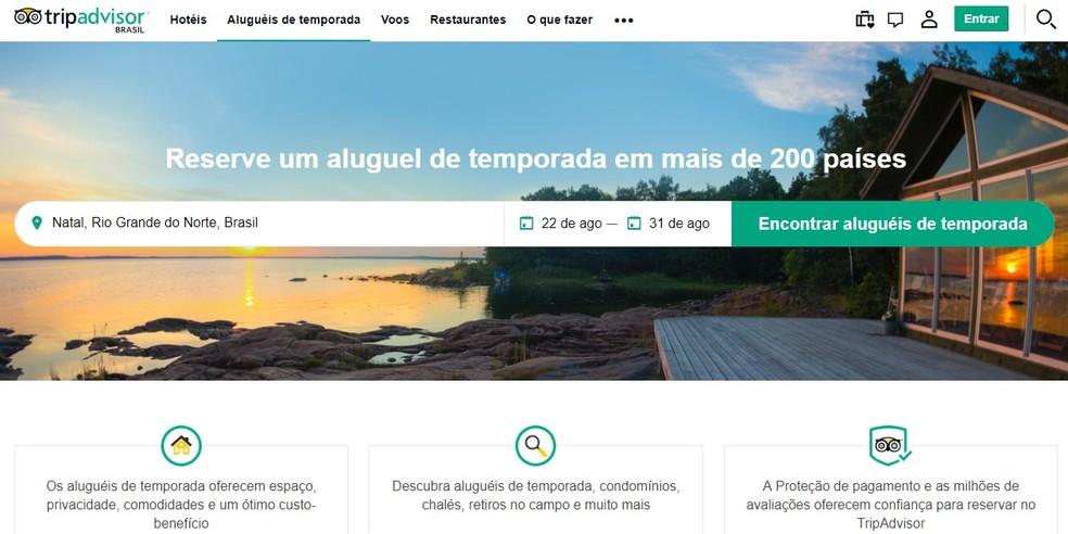 TripAdvisor has seo geared for vacation rental Photo: Reproduo / TripAdvisor