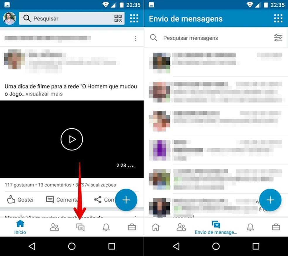Access the message screen and open a conversation Photo: Reproduo / Helito Bijora