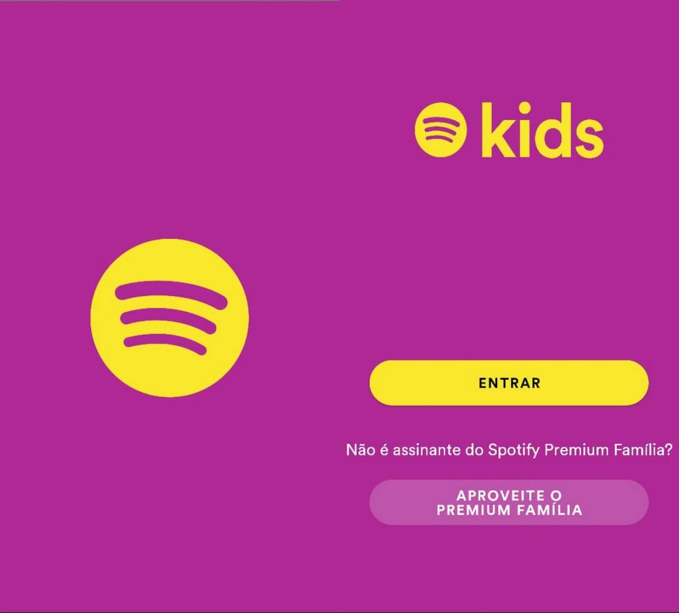 Log into your Spotify Premium Family account Photo: Reproduo / Clara Fabro