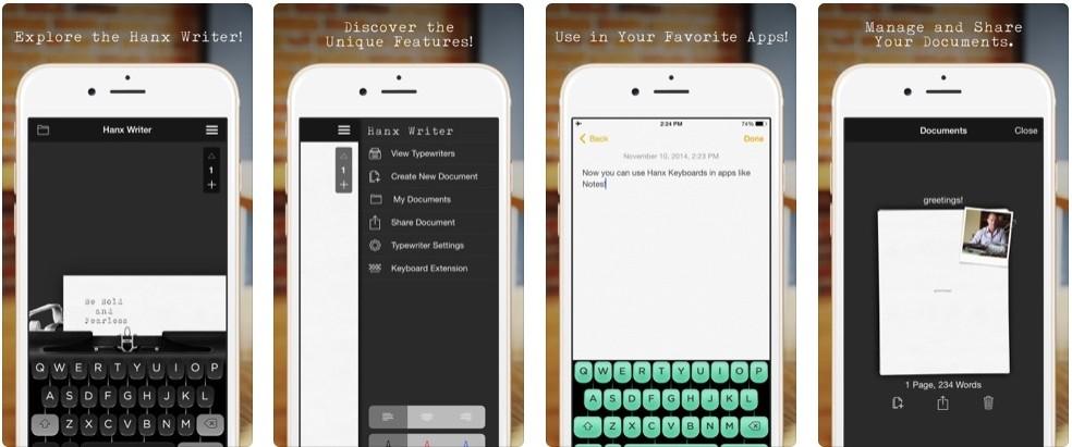 Tom Hanks' app mimics a typewriter Photo: Divulgao / Hanx Writer