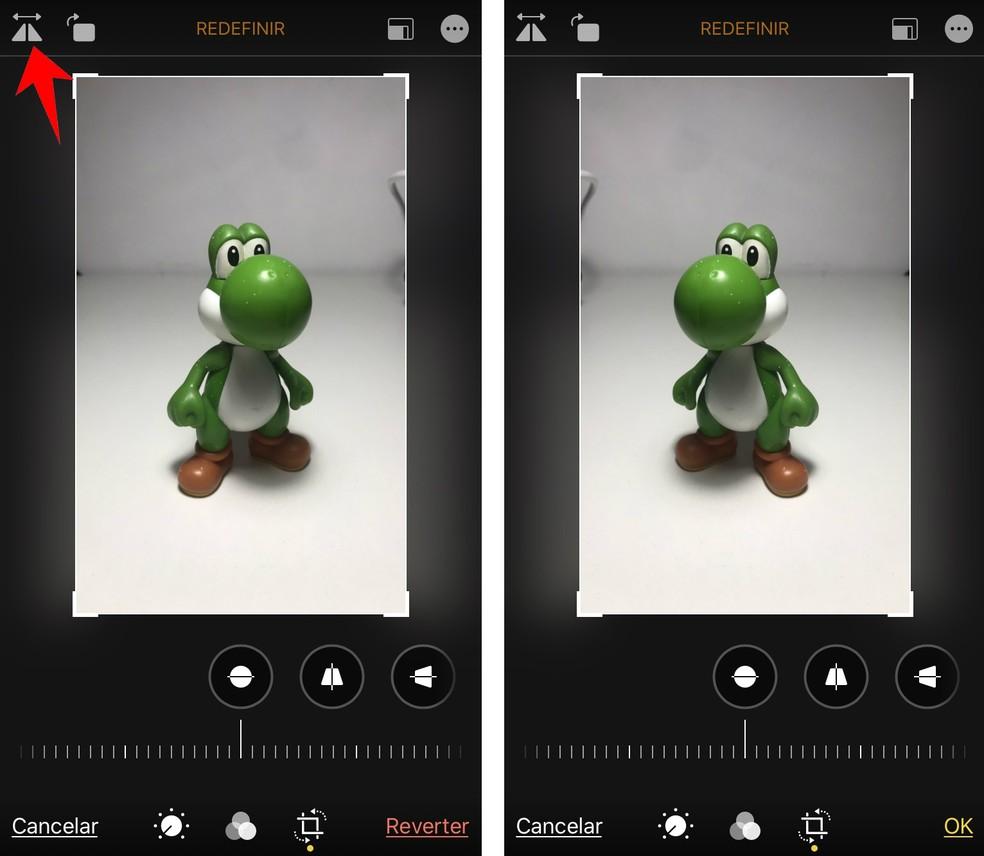 Edito mirrors iPhone images easily Photo: Reproduo / Rodrigo Fernandes
