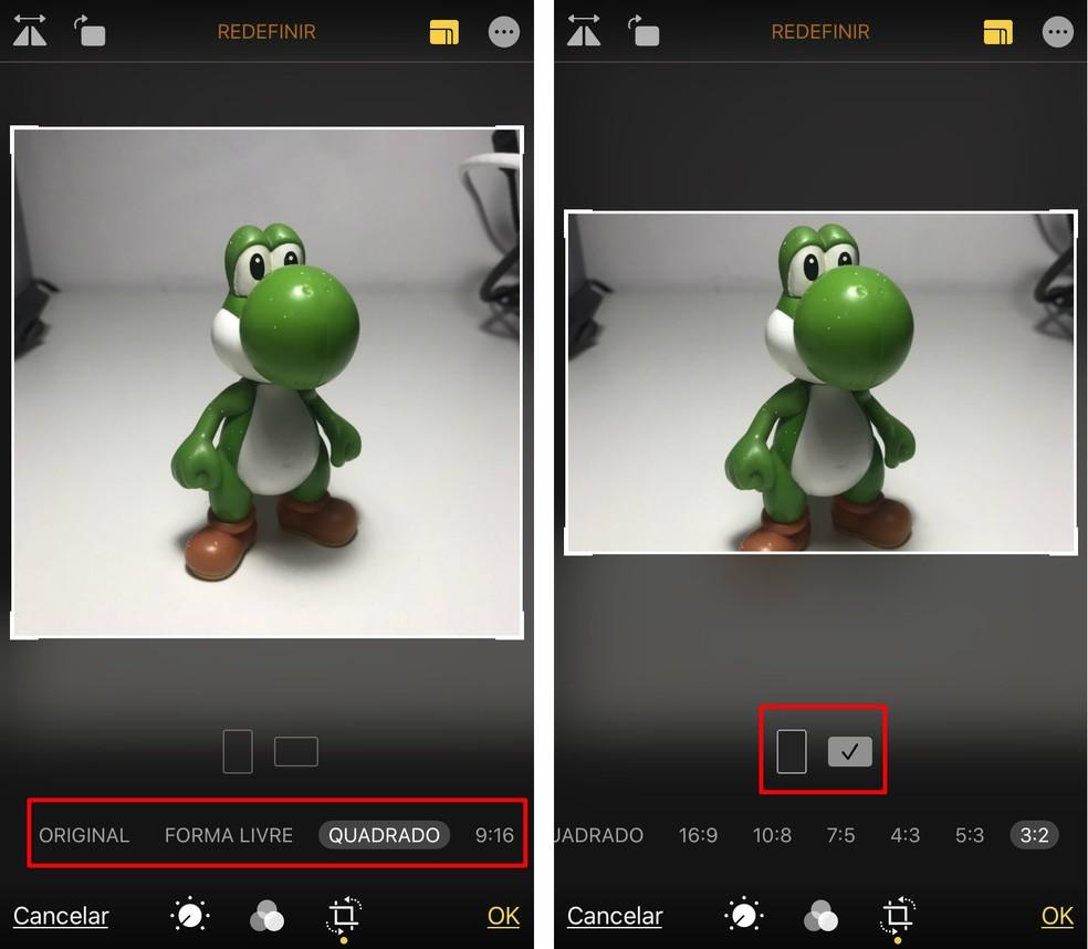 Editor changes the format of iPhone photos Photo: Reproduo / Rodrigo Fernandes
