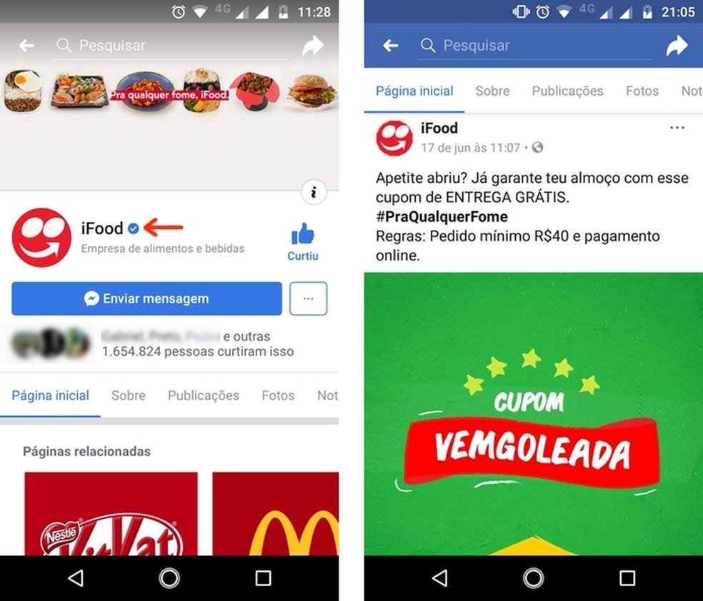 iFood releases discount coupons through social networks, especially Facebook Photo: Reproduo / Raquel Freire