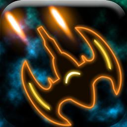 Plasma Sky app icon - a rad retro arcade space shooter