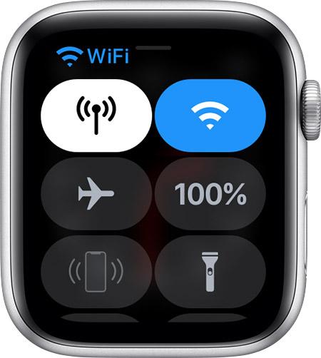 Apple Watch Control Center