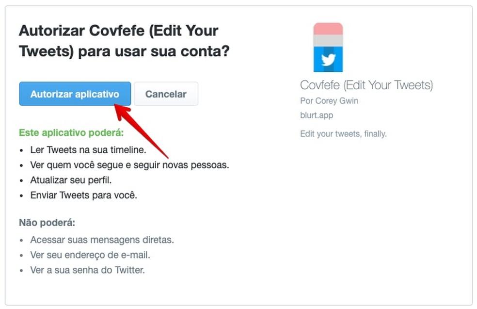 Authorize access to your account Photo: Reproduo / Helito Bijora