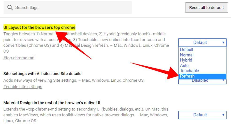 Activate the new Chrome design Photo: Reproduo / Paulo Alves