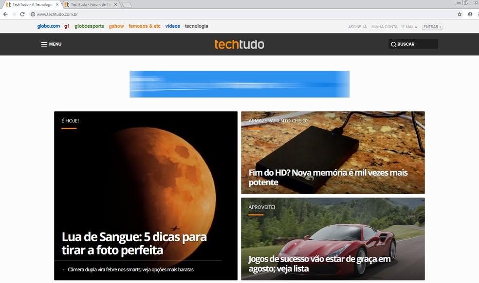 Chrome shows new design after program reset Photo: Reproduo / TechTudo