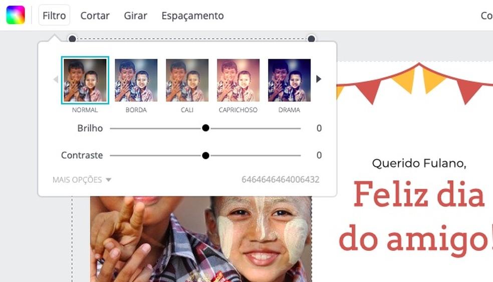 Applying a filter to the photo Photo: Reproduo / Helito Bijora