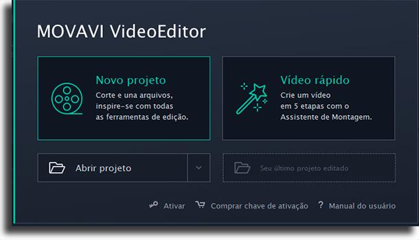 movavi new Project