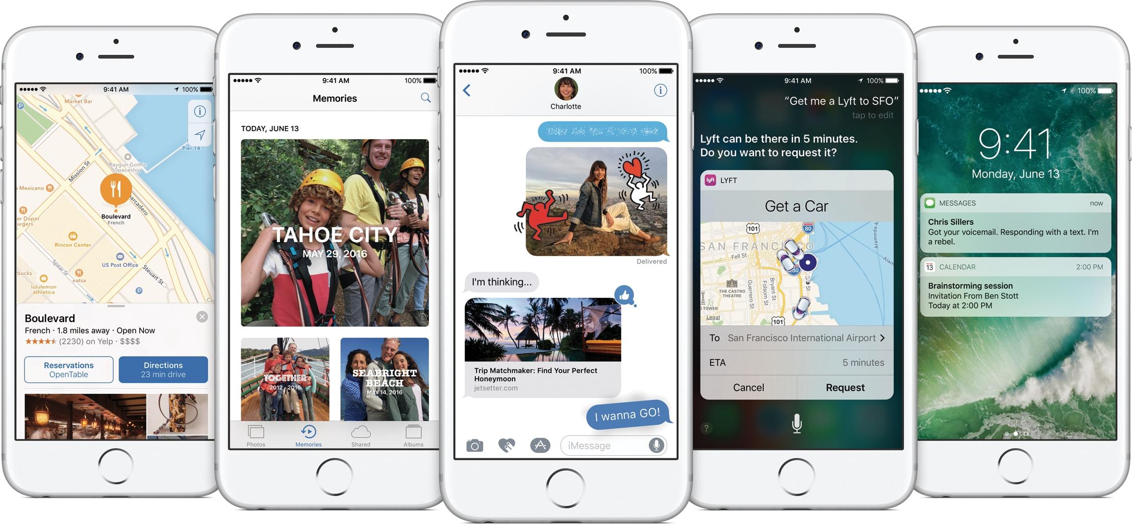 iOS 10 on multiple iPhones
