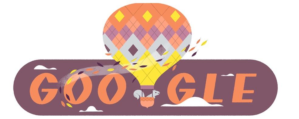 Doodle celebrates the fall season Photo: Reproduo / Google