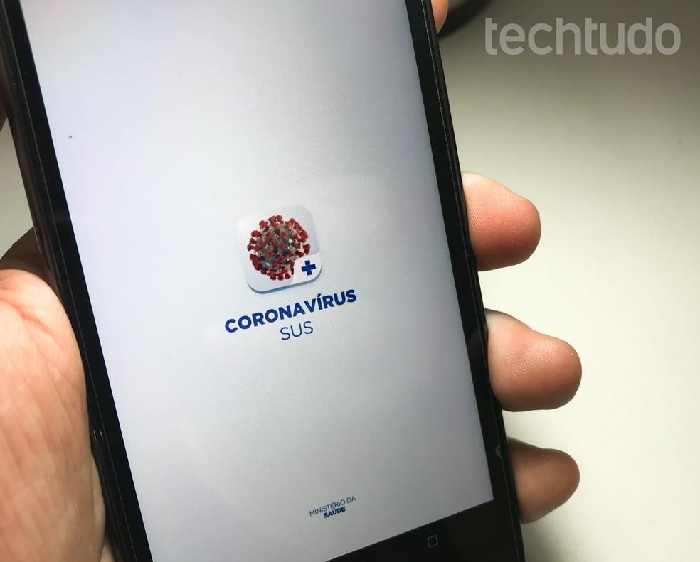 Coronavirus application from the Ministry of Health Photo: Rodrigo Fernandes / TechTudo