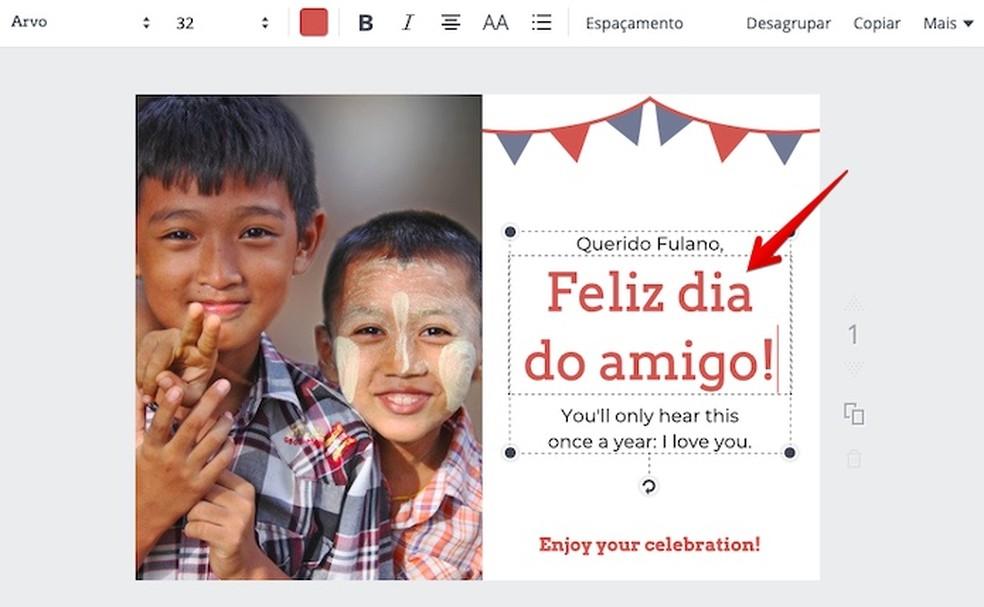 Editing template text Photo: Reproduo / Helito Bijora