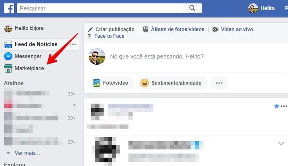 Access the Facebook Marketplace Photo: Reproduo / Helito Bijora