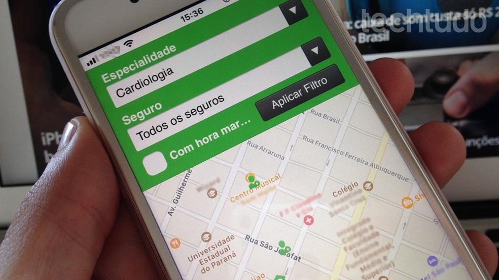 Learn to find doctors with the Doctoralia app Photo: Helito Bijora / TechTudo