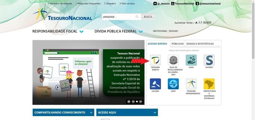 The Federal Government provides an application simulator at Tesouro Direto Photo: Reproduction / Clara Barreto